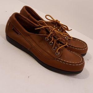 Sebago Campsides Mocs size 5 NWOT Leather MADE US